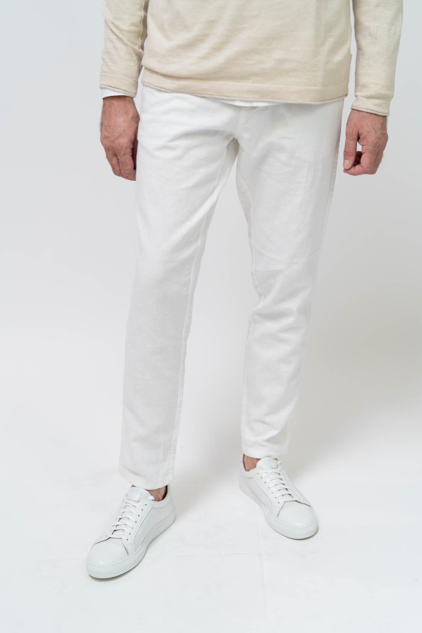 ESPRIT Hose aus Leinen-Mix mit Gürtel