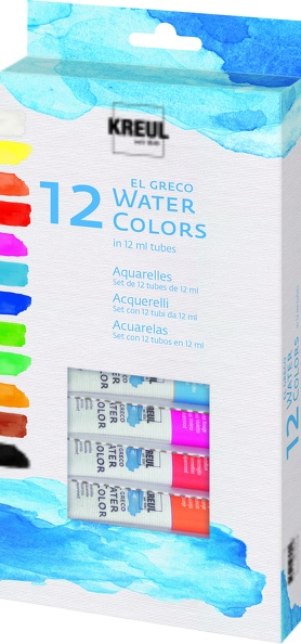 KREUL Aquarellefarben 12er