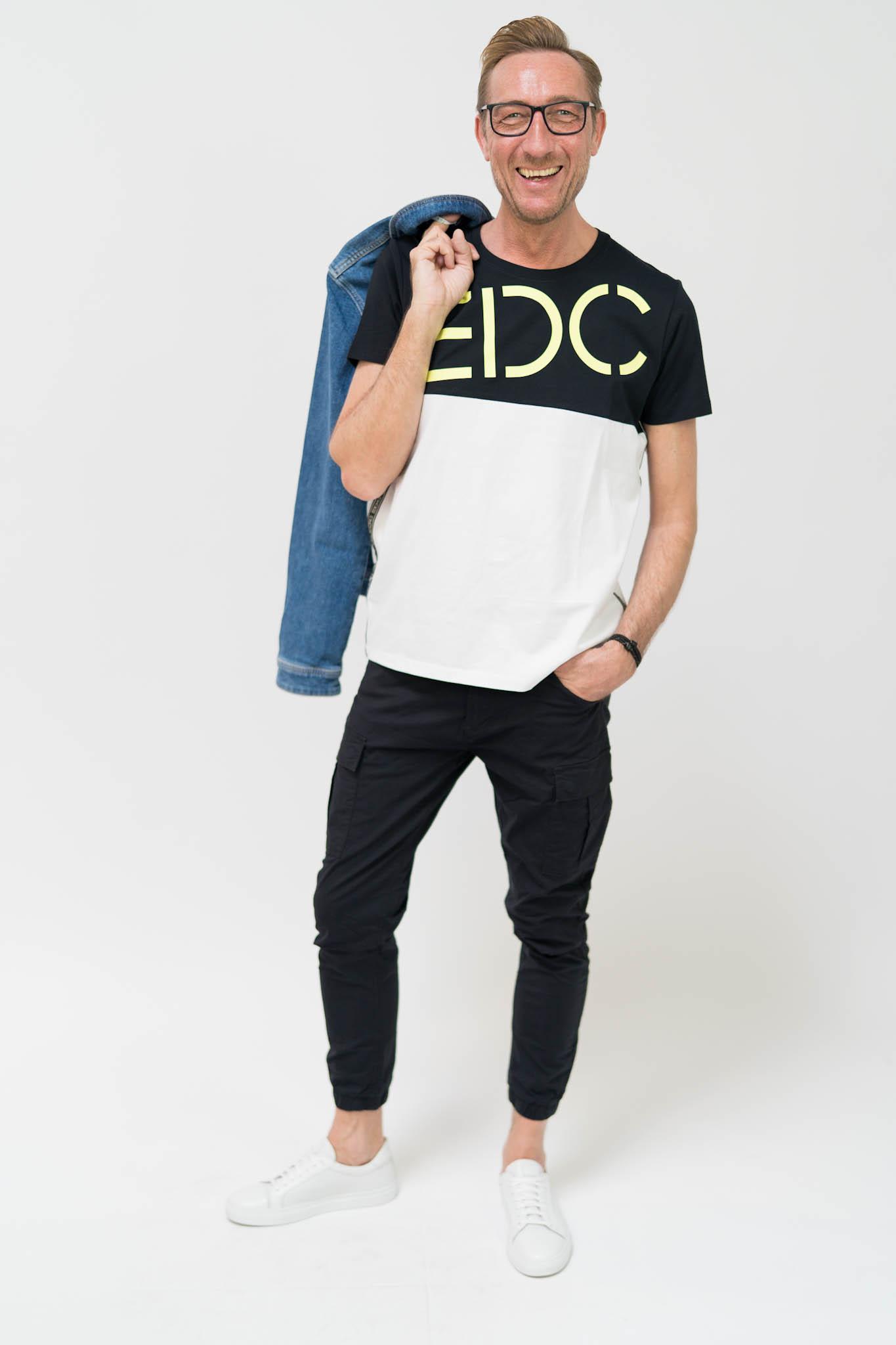 edc by ESPRIT Jersey-Shirt mit Logo
