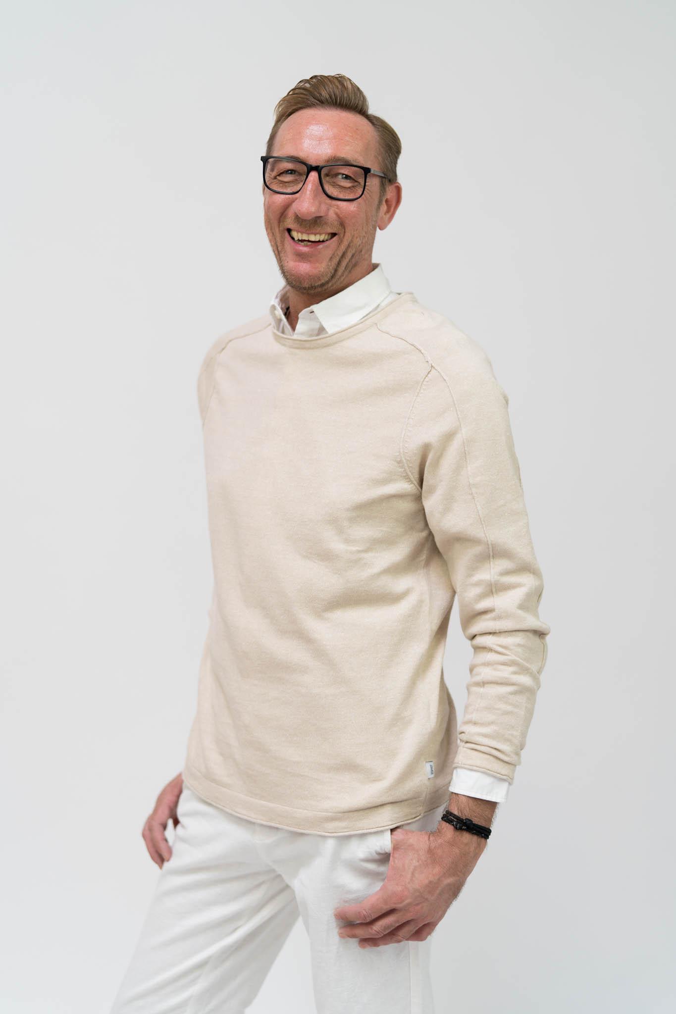 ESPRIT Sweatshirt aus Leinen-Mix