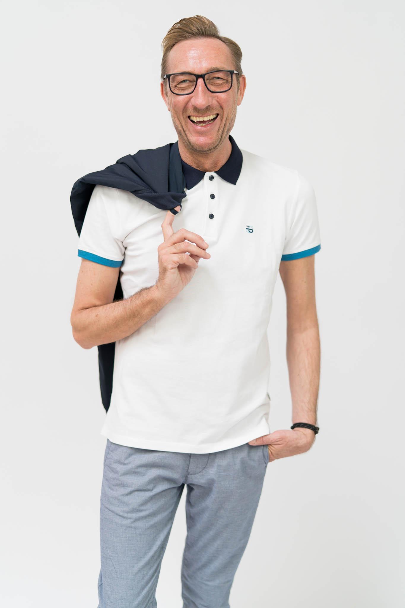 ESPRIT Poloshirt aus Baumwolle-Stretch