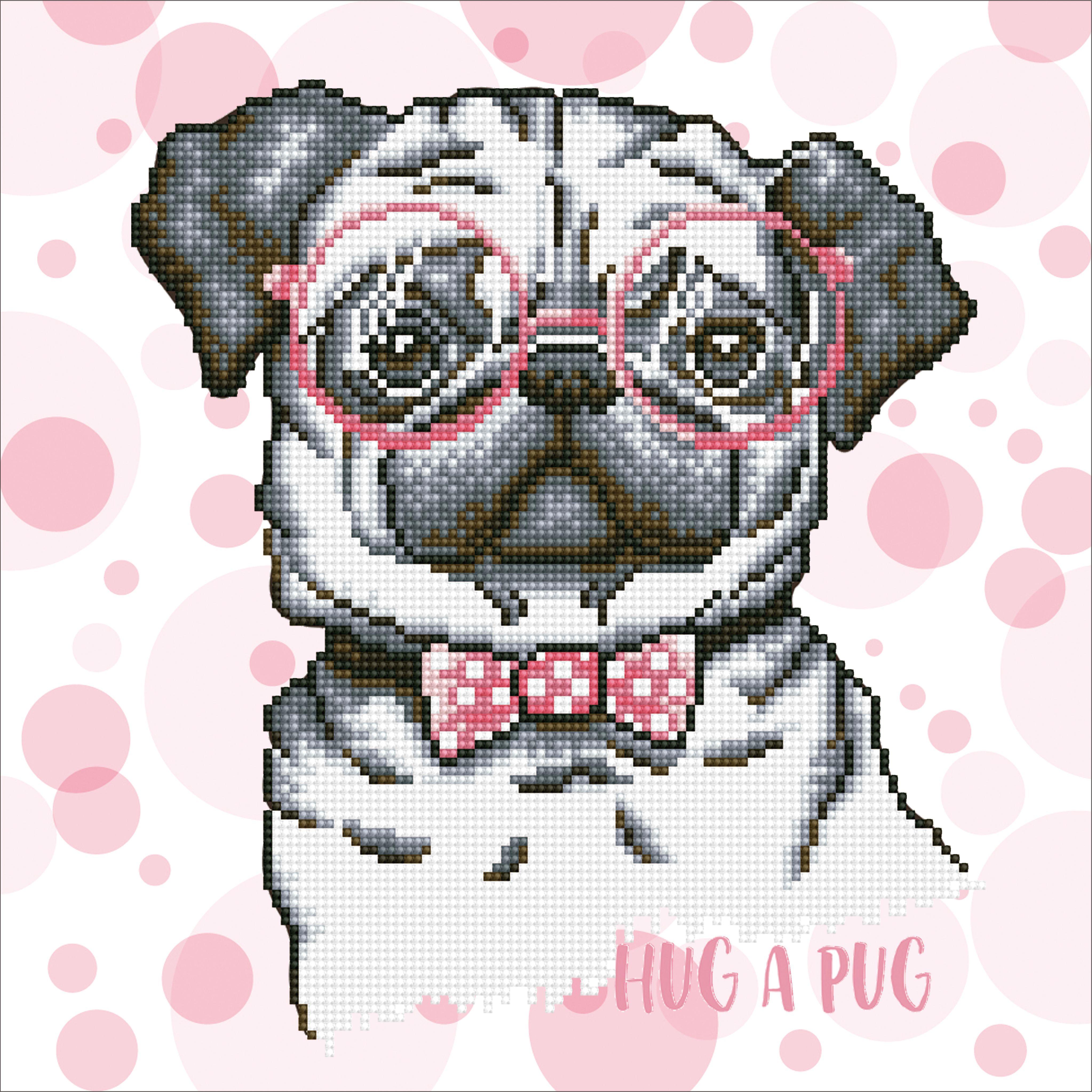 Diamond Dots Hug A Pug