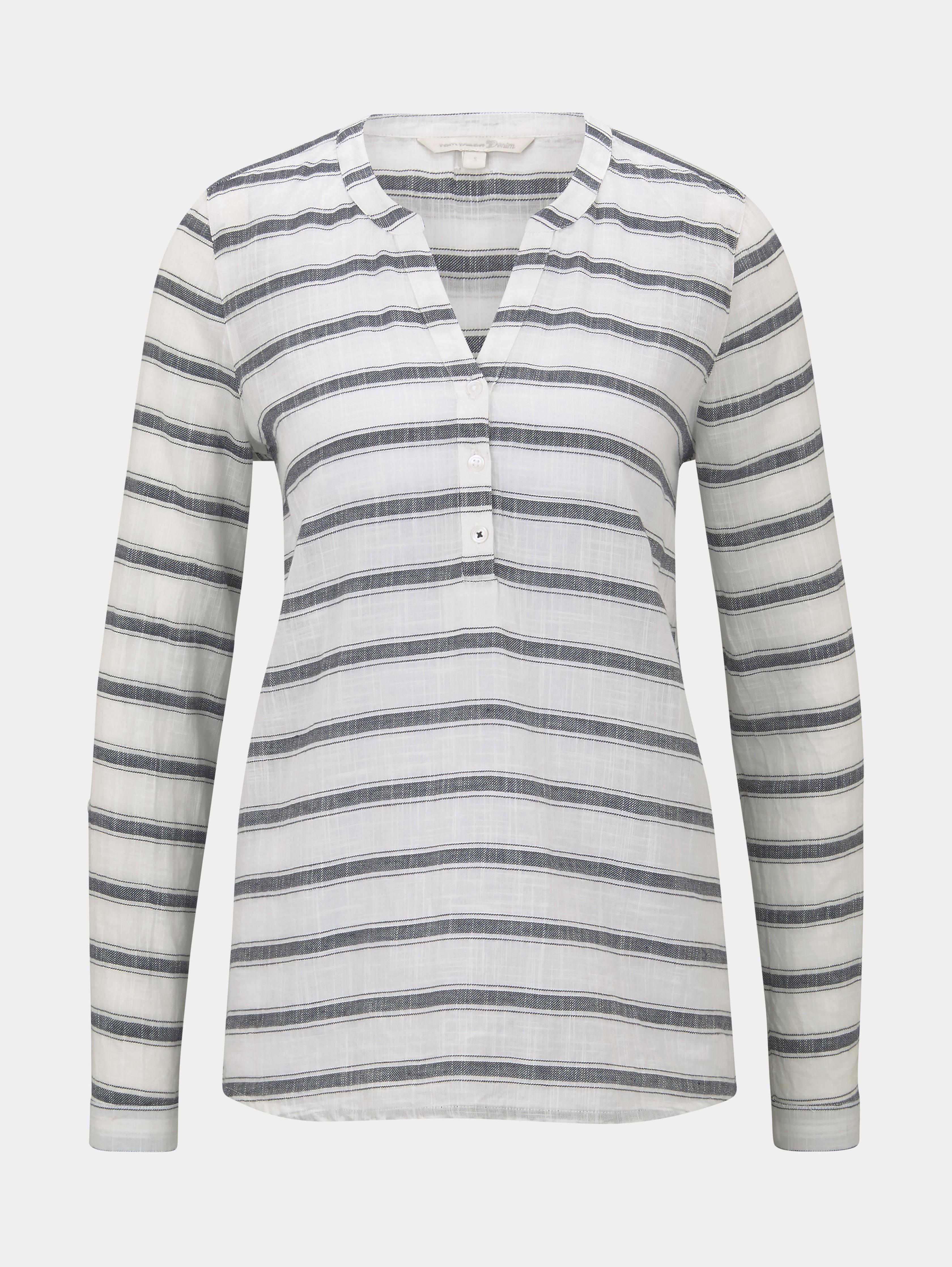 Bluse Striped Henley Tom Tailor Denim