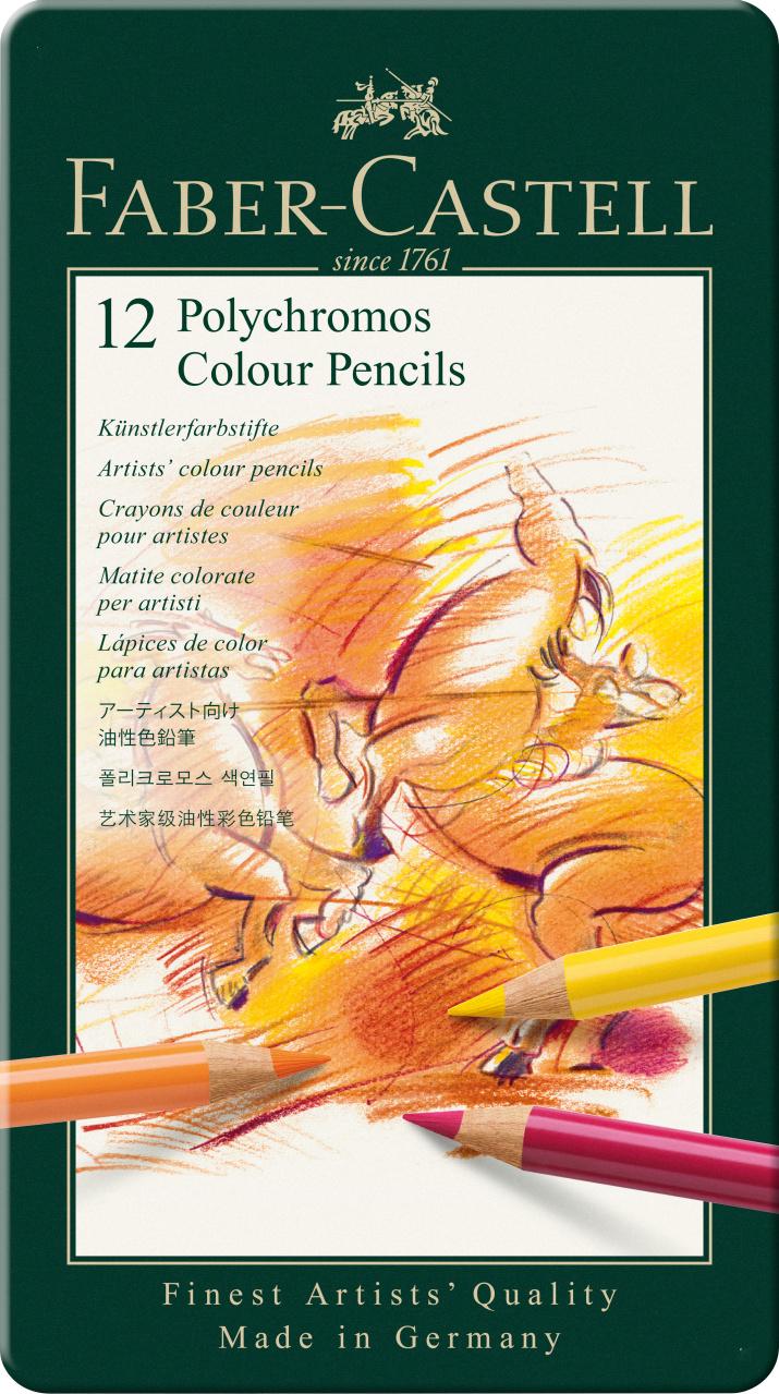 Faber Castell Polychromos Colour Pencil 12er