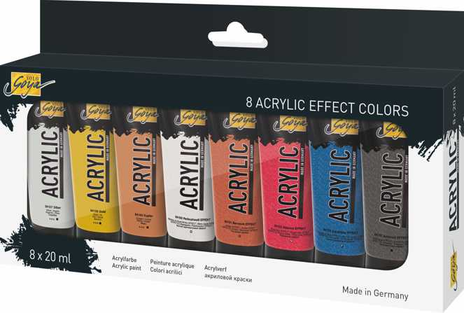 KREUL Acrylfarben Effect 8er