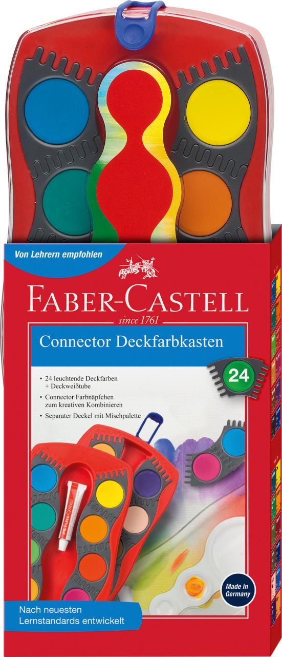 Faber Castell Connector Deckfarbkasten 24er